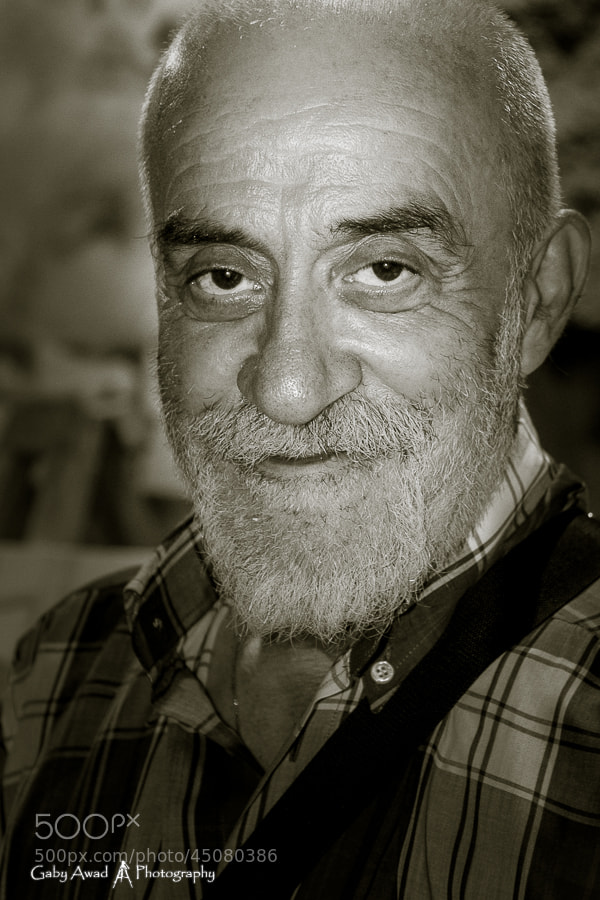 Photograph Lebanese Actor and Painter Paul Sleiman by Gaby Awad on 500px