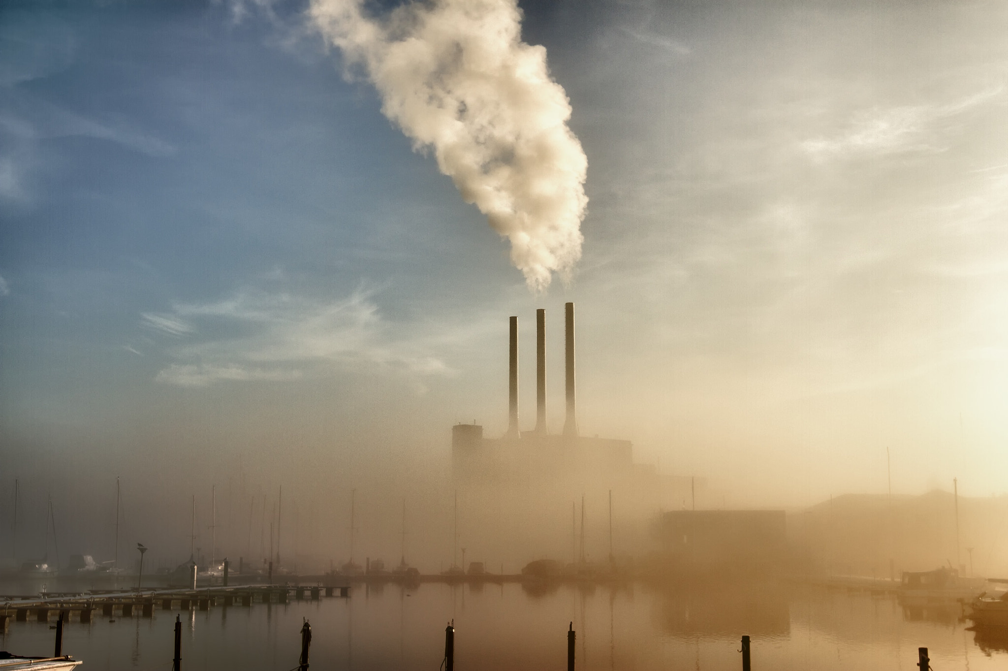 Photograph Mist over the energyplant by Mikael Klint on 500px