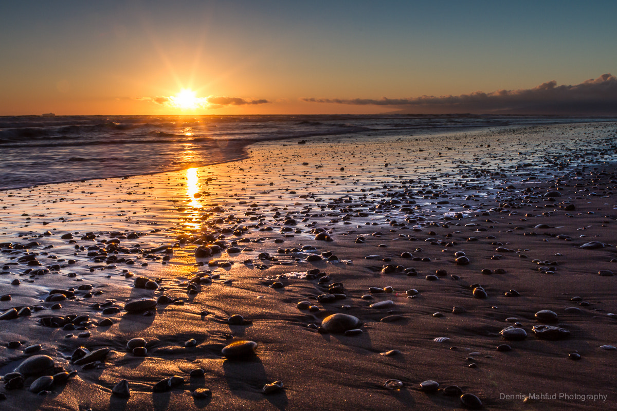 Photograph Sunset and pebbles by Dennis Mahfud on 500px