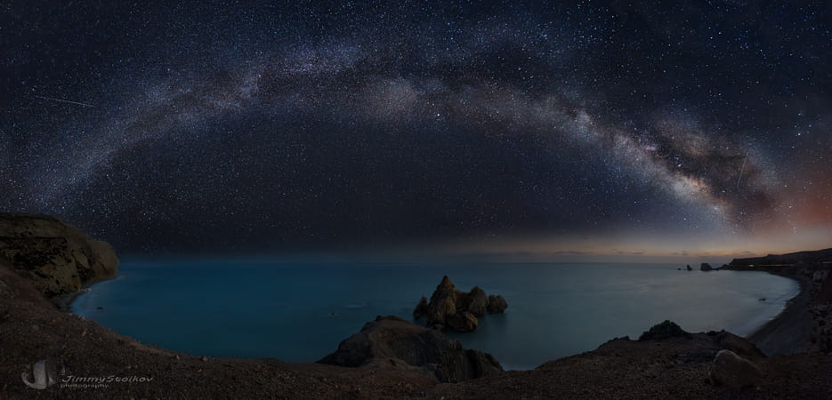 Milky Way - Bay of Aphrodite- Panorama