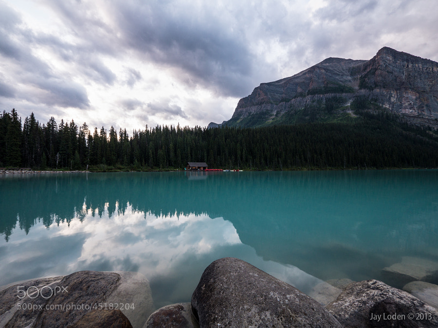 Sunrise at Lake Louise, Banff National Park, Alberta Canada