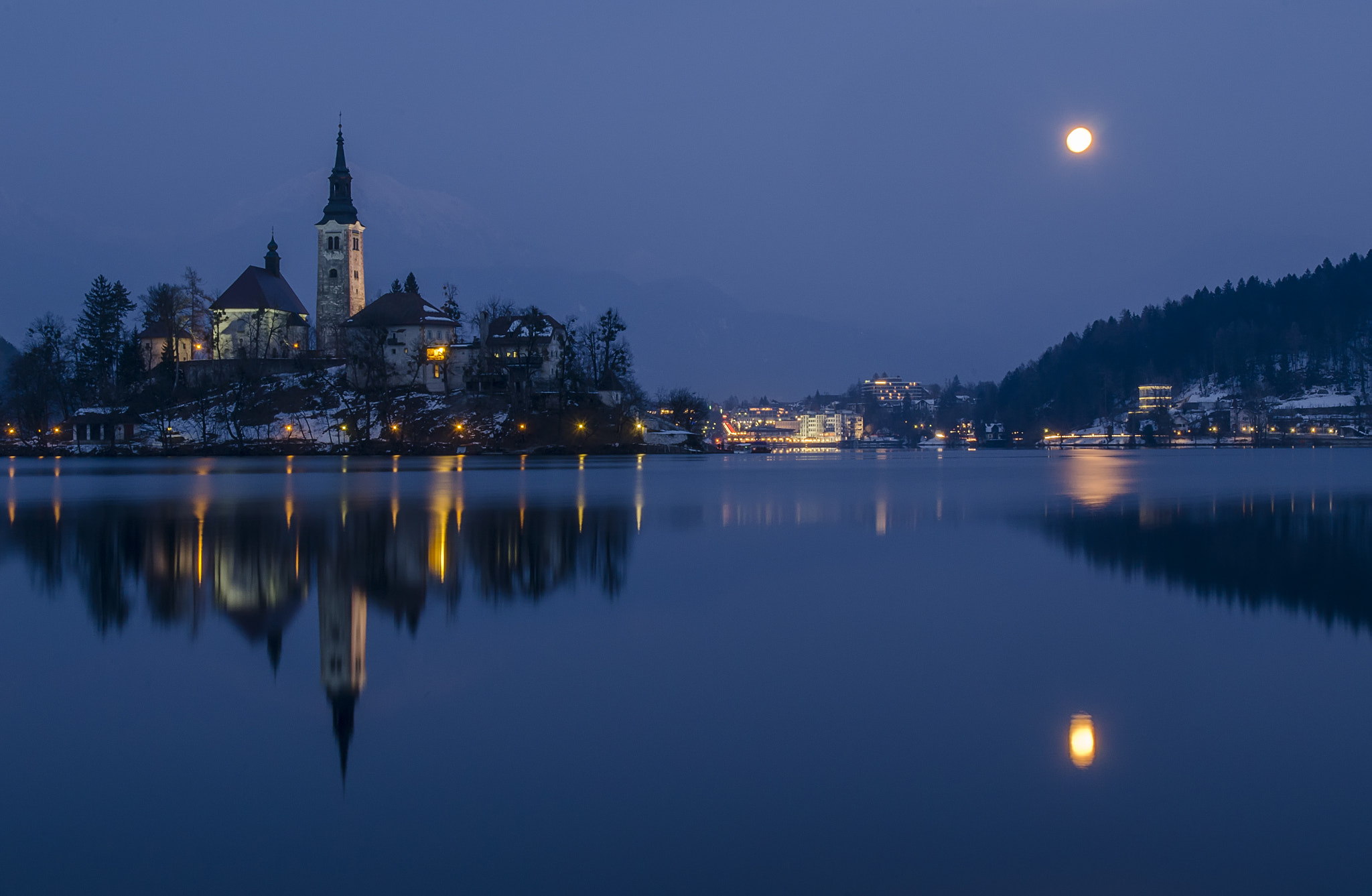 Photograph Moonlighted Bled by Csilla Zelko on 500px