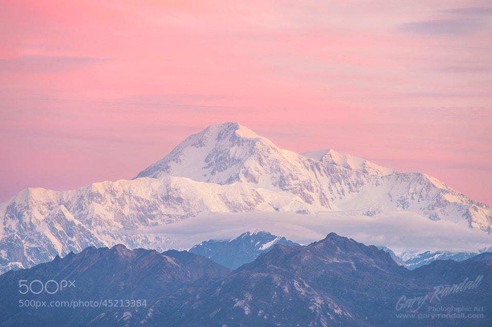 Photograph Mount McKinley Alpenglow by Gary Randall on 500px