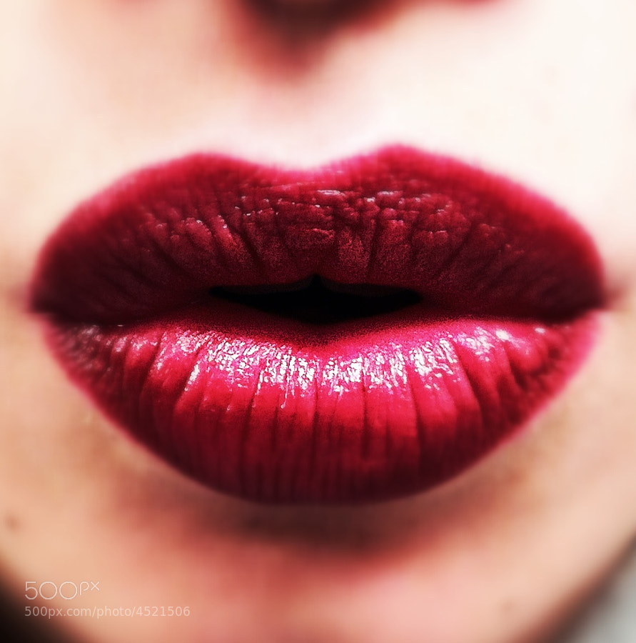 My Lips with red lipstick