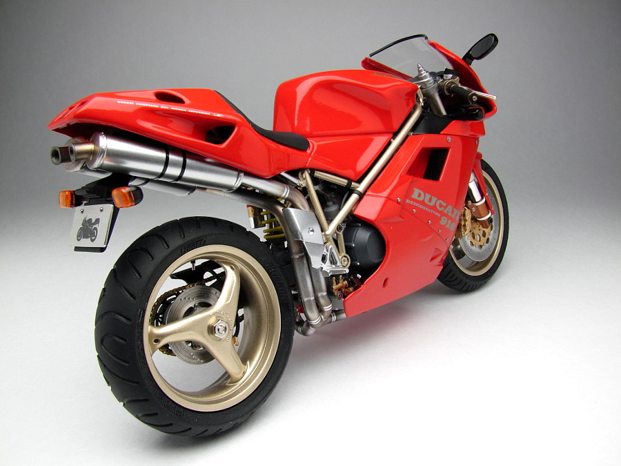 The unique model of Ducati 916, scale 1/12 (length 17 cm), hand made