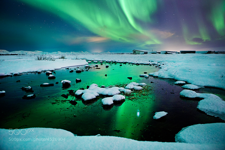 Photograph River-light - Iceland - Northern lights - aurora borealis  by Olinn Thorisson on 500px