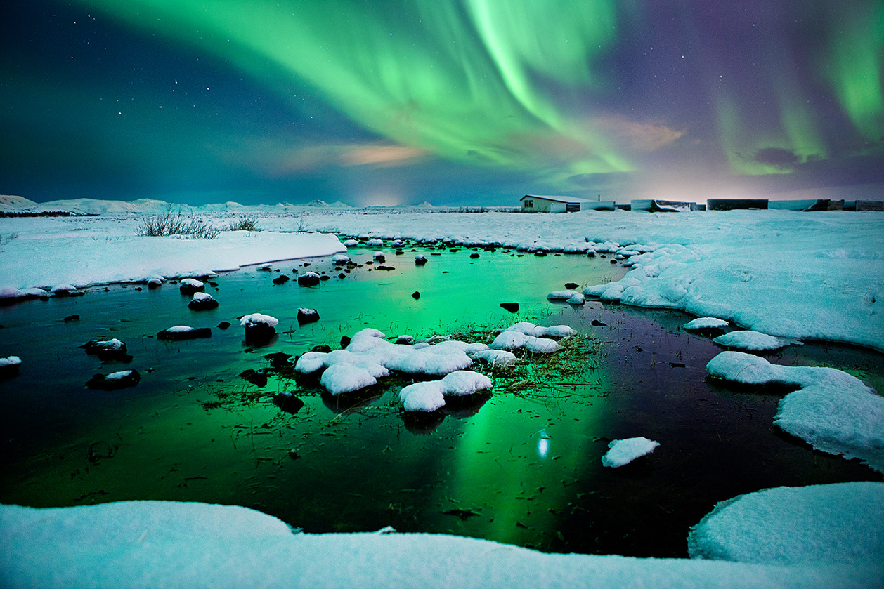 Photograph River-light - Iceland - Northern lights - aurora borealis  by Olinn Thorisson on 500px