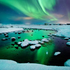 River-light - Iceland - Northern lights - aurora borealis  by Olinn Thorisson (olinn)) on 500px.com