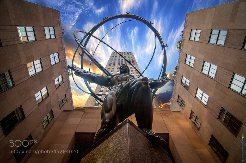 Photograph Atlas statue by Gianluca Tursi on 500px