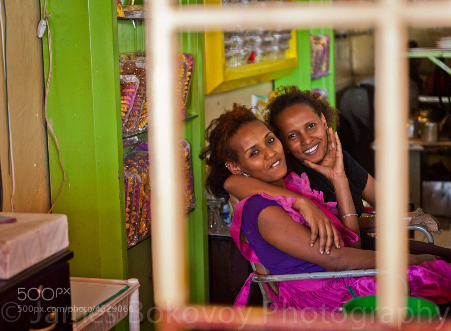 Two lovely Ethiopian women share some laughs and smiles with me.