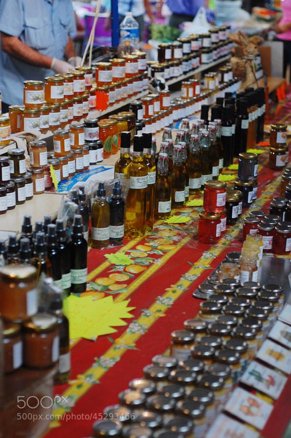 Huiles et confitures, Marché Provençal d'Antibes by Anna Stevenson on 500px.com