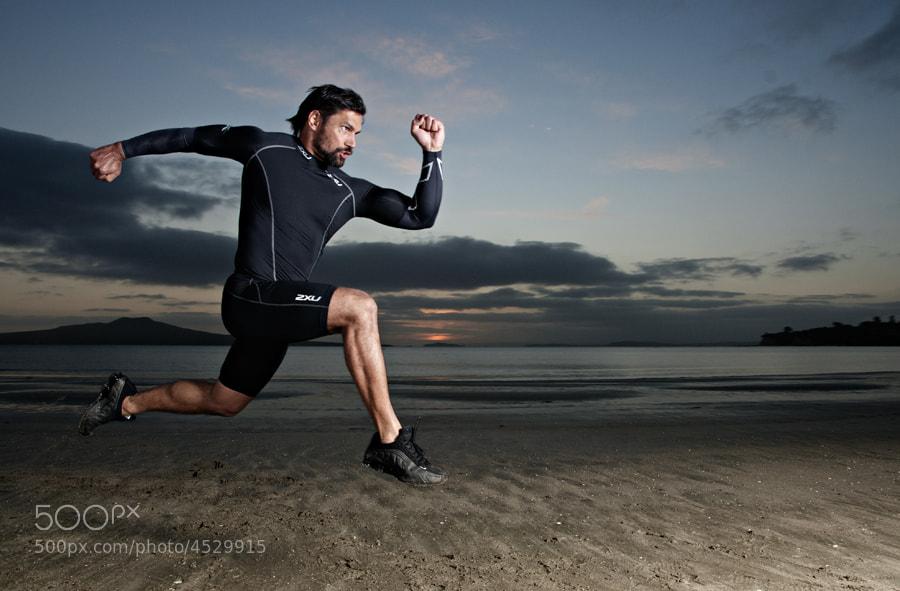 Photograph Manu Bennett - Beach Training by XAVIER WALLACH on 500px