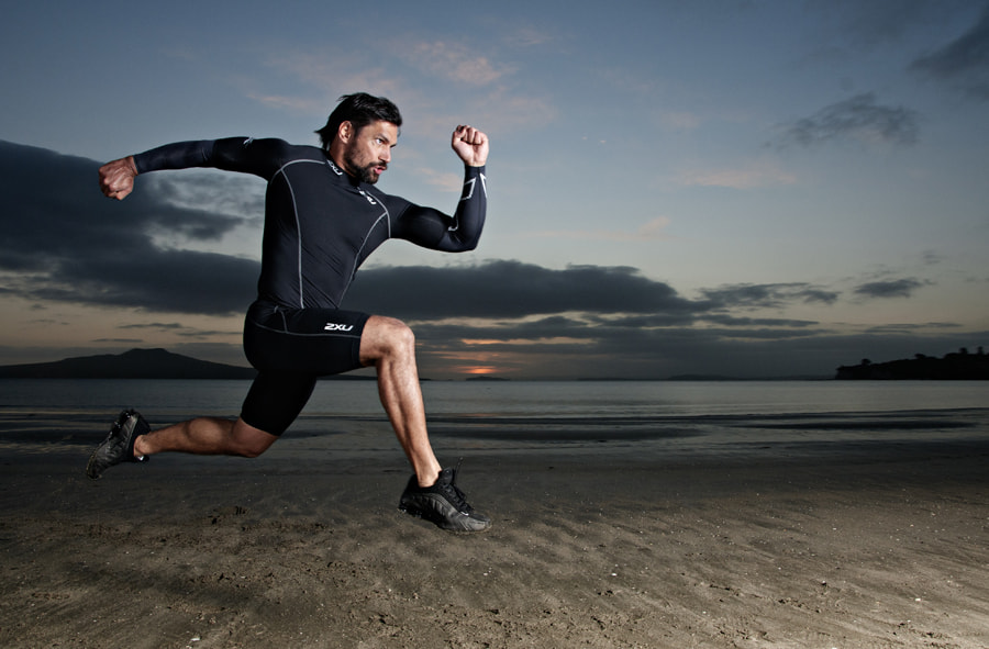 Photograph Manu Bennett - Beach Training by XAVIER WALLACH on 500px