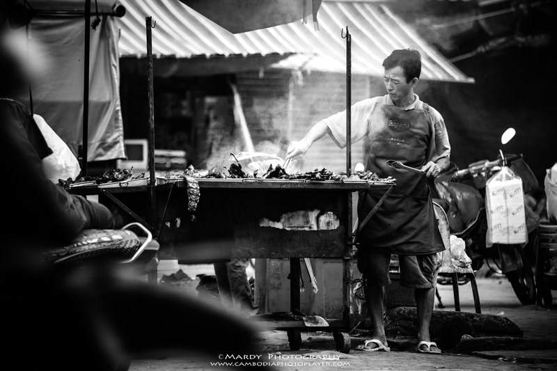 Photograph BBQ seller! by Mardy Suong Photography on 500px