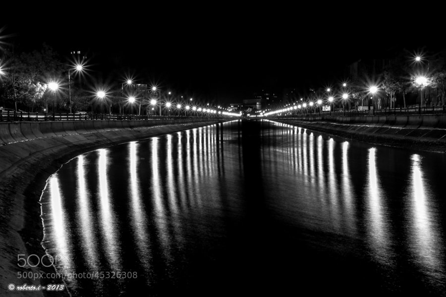 Photograph city lights on the river by Roberto Iosupescu on 500px