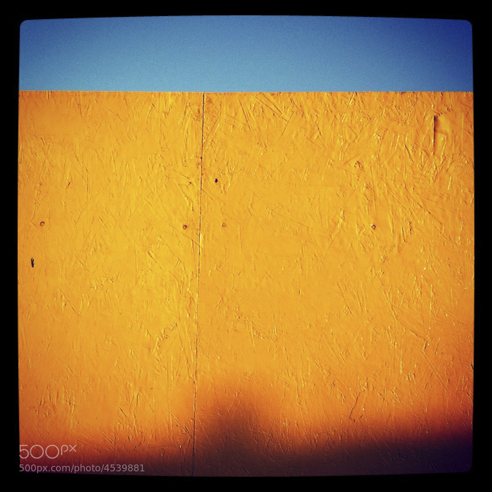 Photograph Yellow Fence by Gerry Coe on 500px
