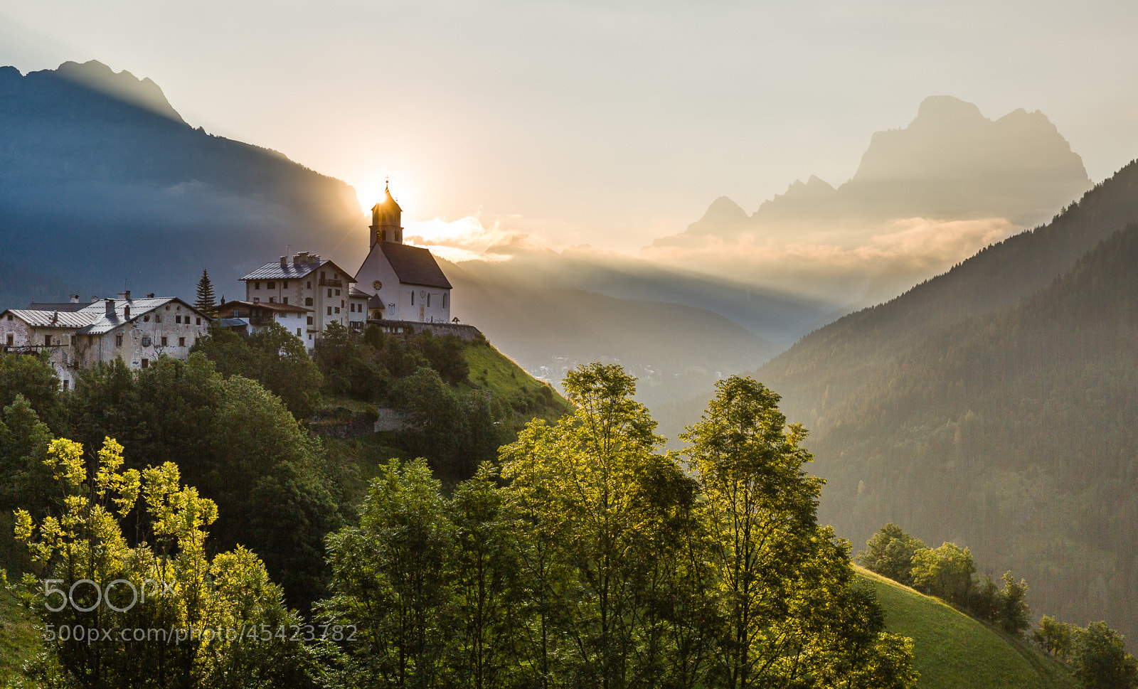 Photograph The church in Colle Santa Lucia in the morning sun by Hans Kruse on 500px