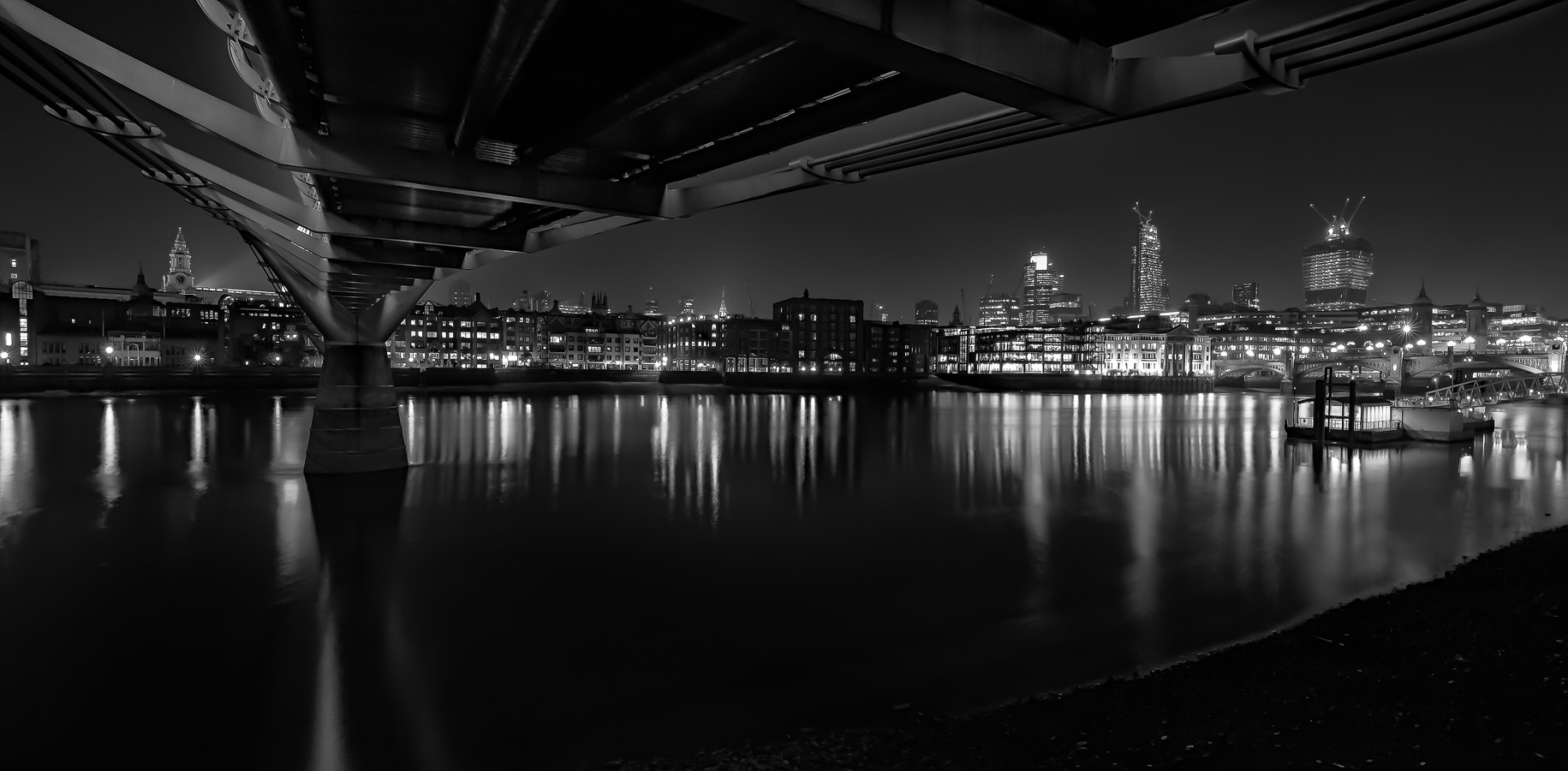 Photograph Millennium Bridge Mono by Daniel Hannabuss on 500px