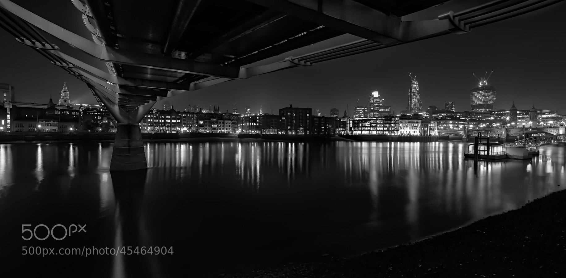 Photograph Millennium Bridge Mono by Daniel Hannabuss on 500px