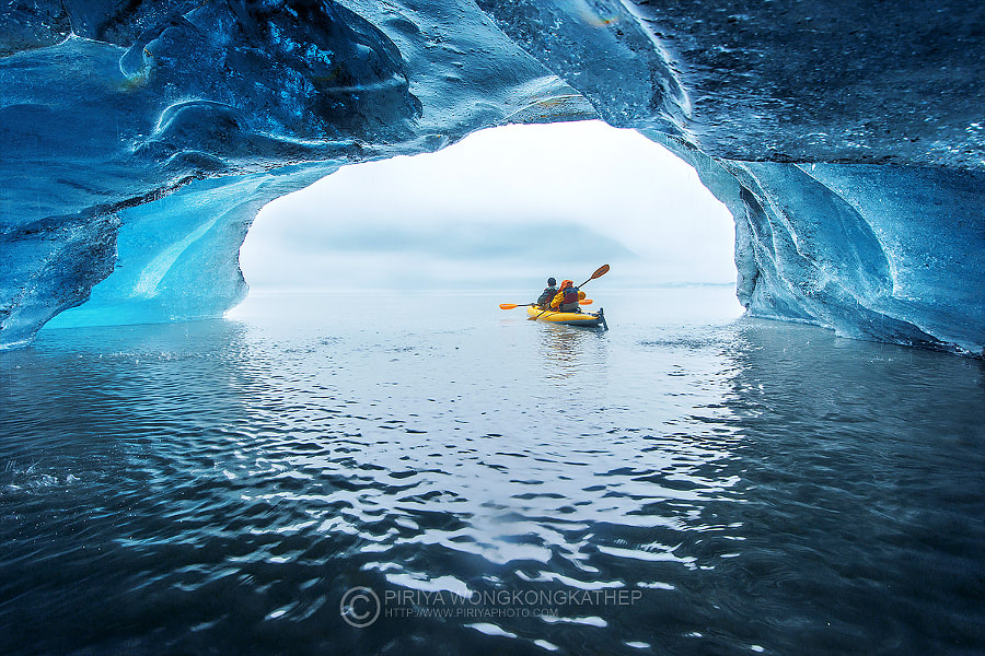 Photograph Inside a floating ice by Pete Wongkongkathep on 500px