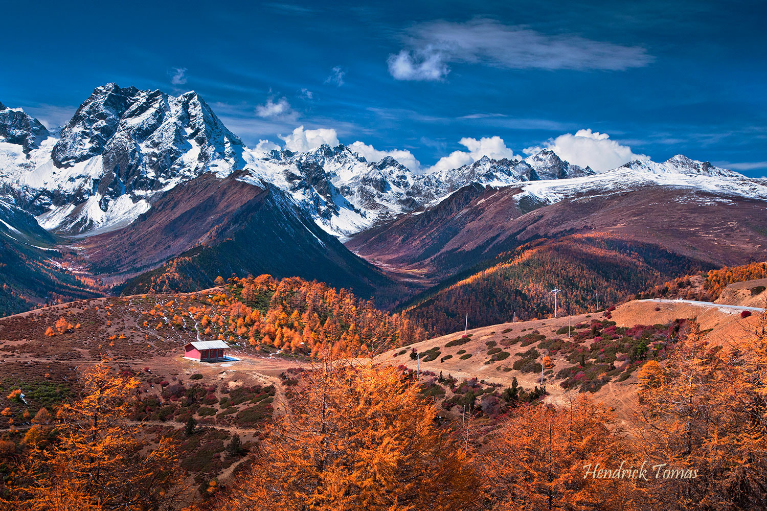 Photograph Autumn and snow mountain by Hendrick  Tomas on 500px