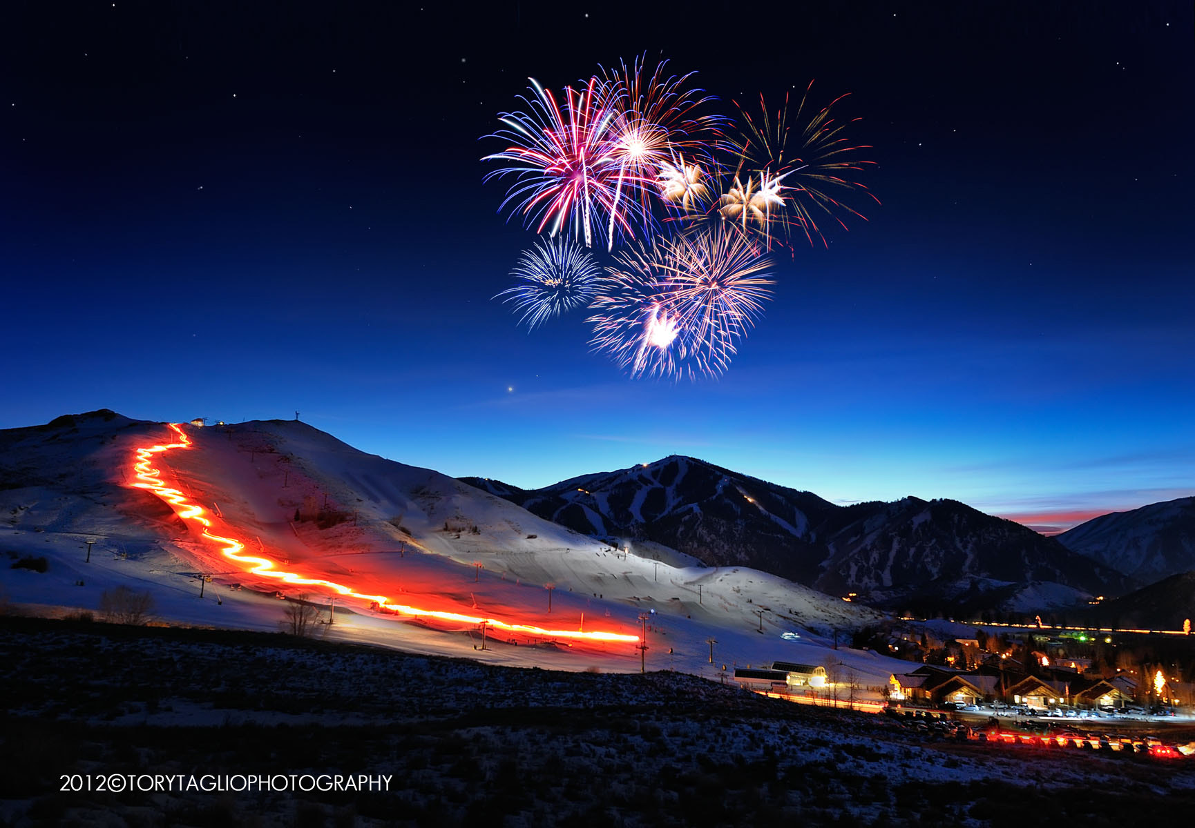Photograph Sun Valley Torchlight Parade 2012 by Tory Taglio on 500px