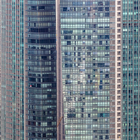 Skyscraper patterns in downtown Singapore