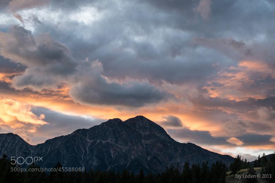 Sunset in Jasper National Park, Alberta Canada