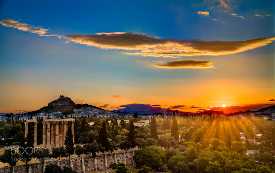 Photograph Sunrise on The Temple of Olympian Zeus by Micah Goff on 500px