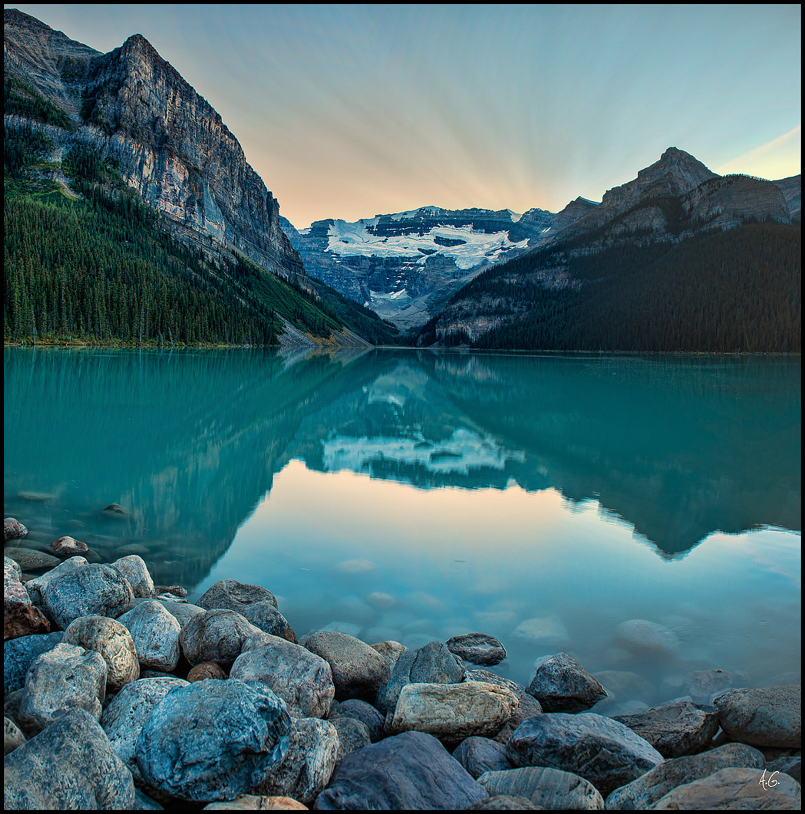 Photograph Lake Louise After Sunset by Alex Gubski on 500px