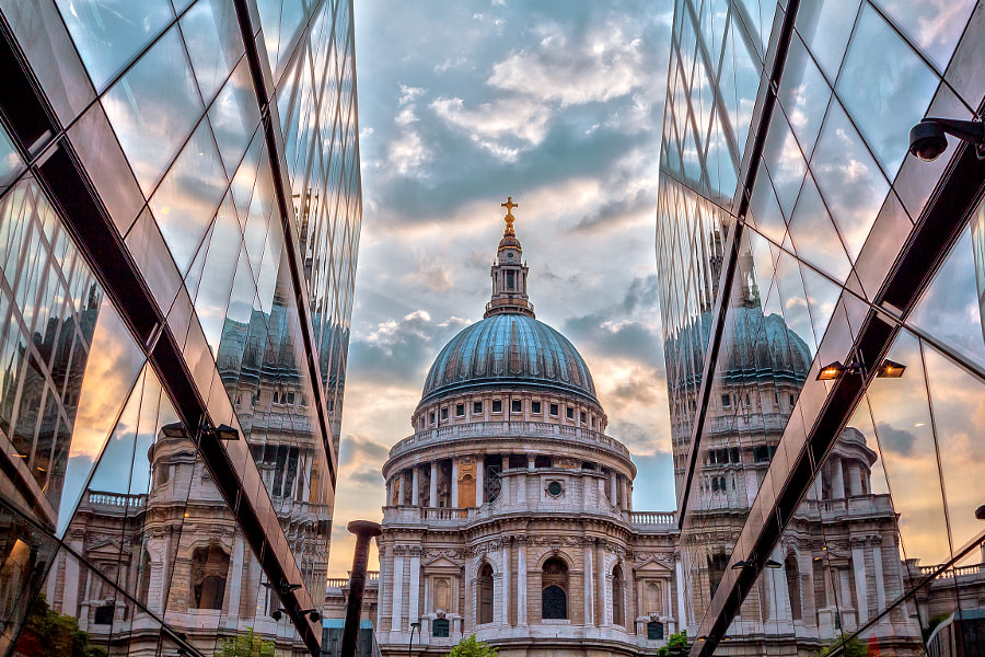 Multiple Reflection Of St Paul Church-London. by FaceChoo Yong on 500px.com