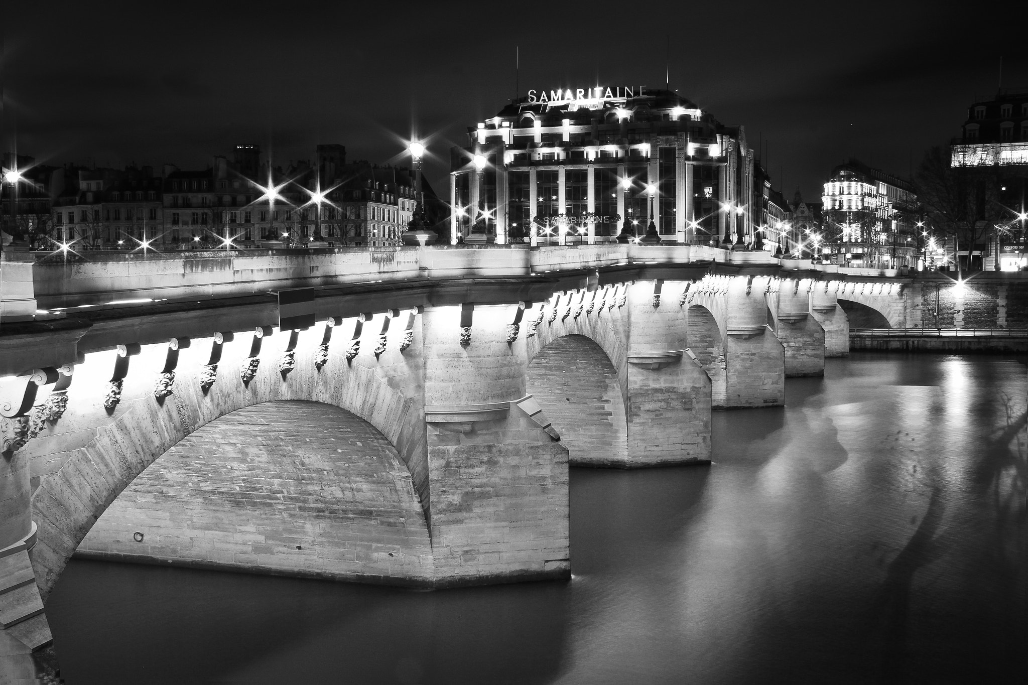 "Photograph Pont Neuf et la Samaritaine ""Paris By Night"" by Pierre-Luc Ramsamy on 500px"