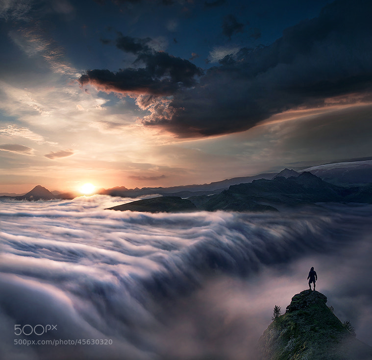 Photograph Wanderer Above the Sea of Clouds by Max Rive on 500px