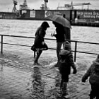 high tide in Hamburg