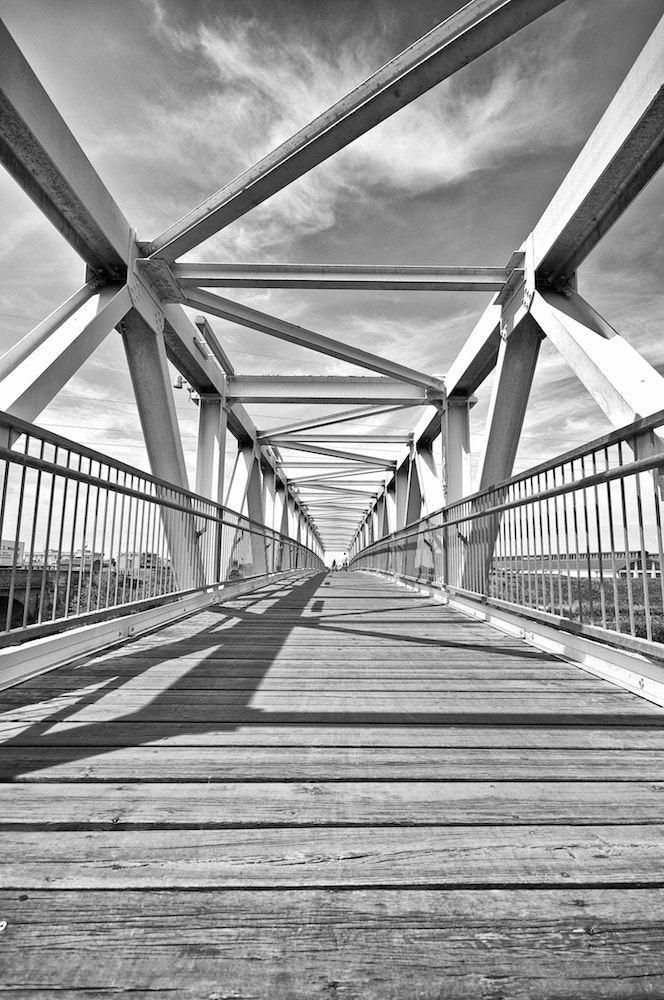Photograph the bridge made of lines by Andrea Correale on 500px