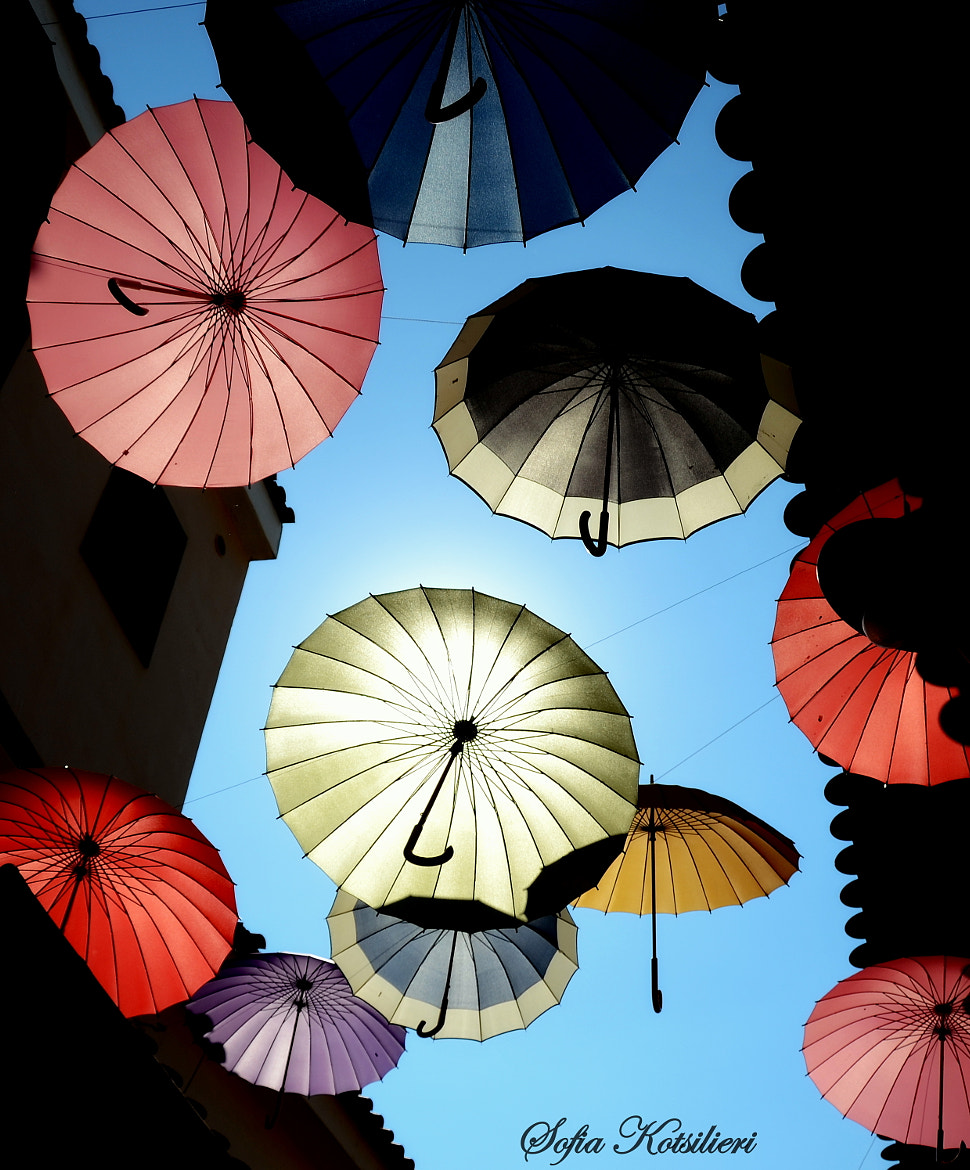 Photograph umbrellas in the air... by Sofia  Kotsilieri on 500px