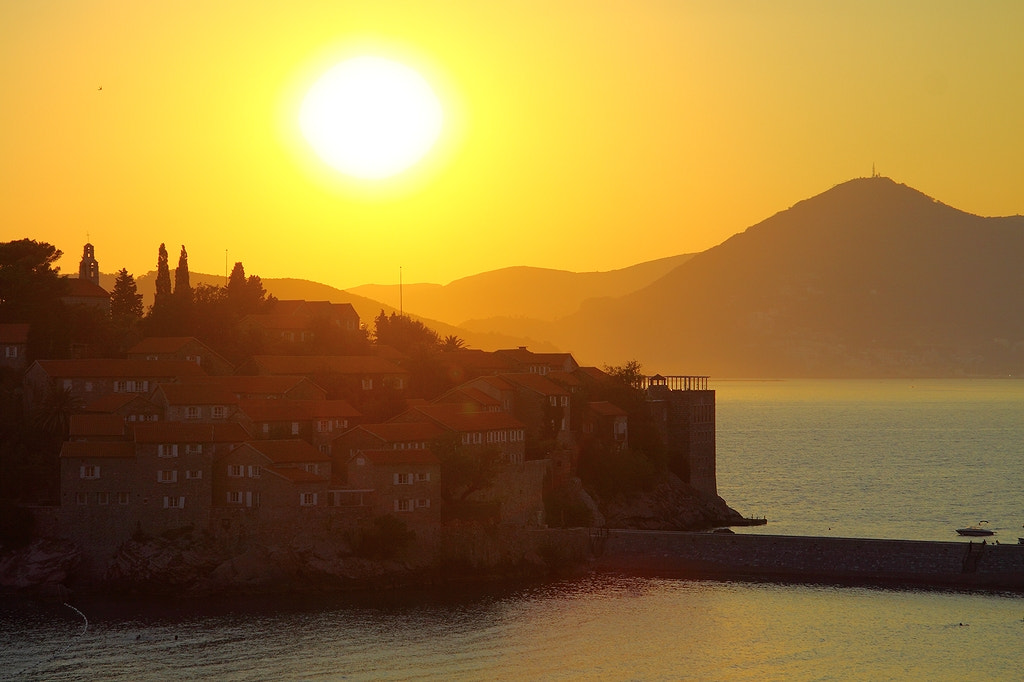 Photograph Sveti Stefan's sunset by rspanov on 500px