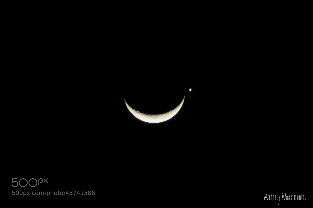 Photograph Venus and Moon by Andrey Nascimento on 500px