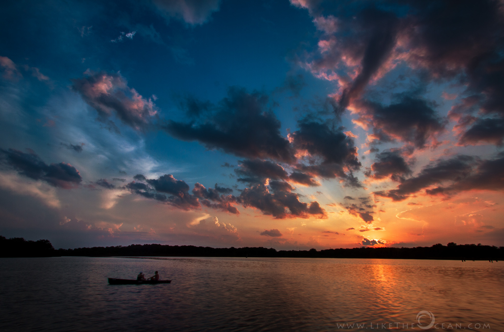 Photograph Glorious Sunset at Busse Woods Lake by Sathya R on 500px