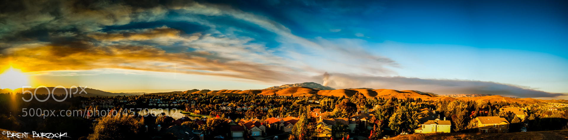 Photograph Mount Diablo Wildfire Pano by Brent Burzycki on 500px