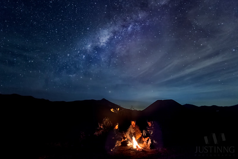 Photograph Warming up under the Milky Way galaxy by Justin Ng on 500px