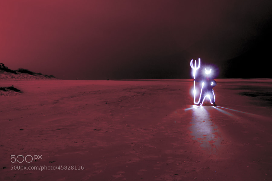 Photograph Light painting by Julia Lezgovko