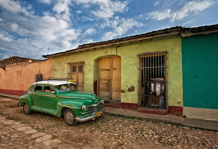 Photograph Trinidad Cuba - The Green Taxi by John Barclay on 500px