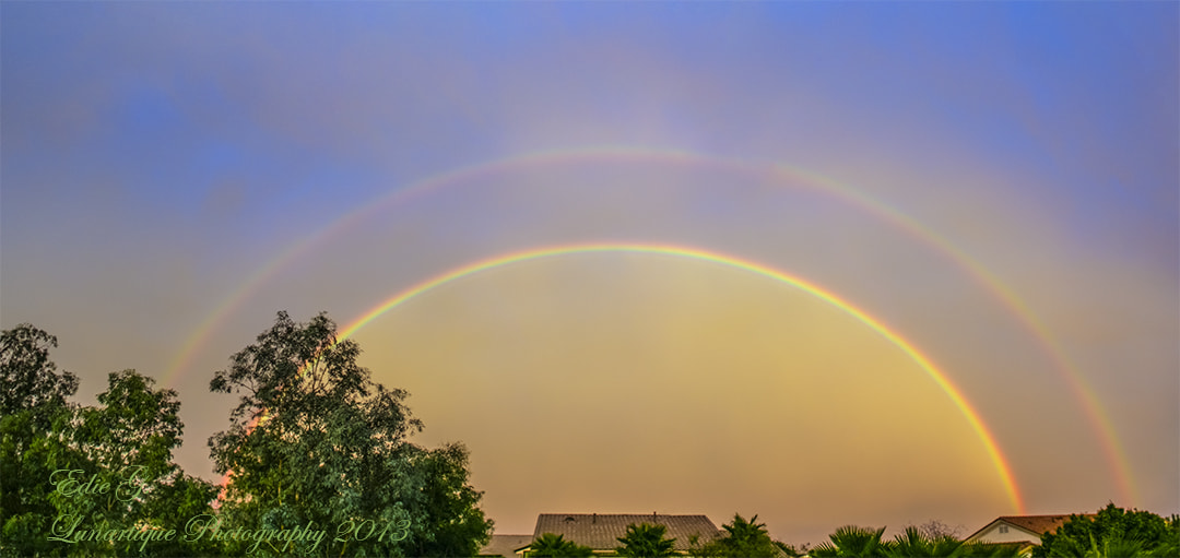 Photograph Double Rainbow by Edie G. on 500px