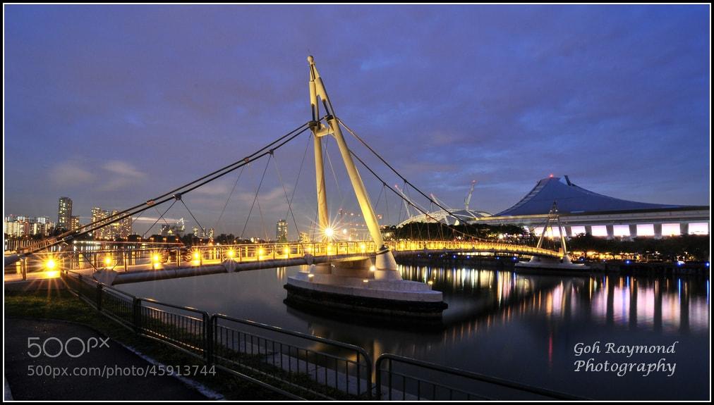Photograph Blue Hour @ Tanjong Rhu Bridge by GohRaymond Photography on 500px