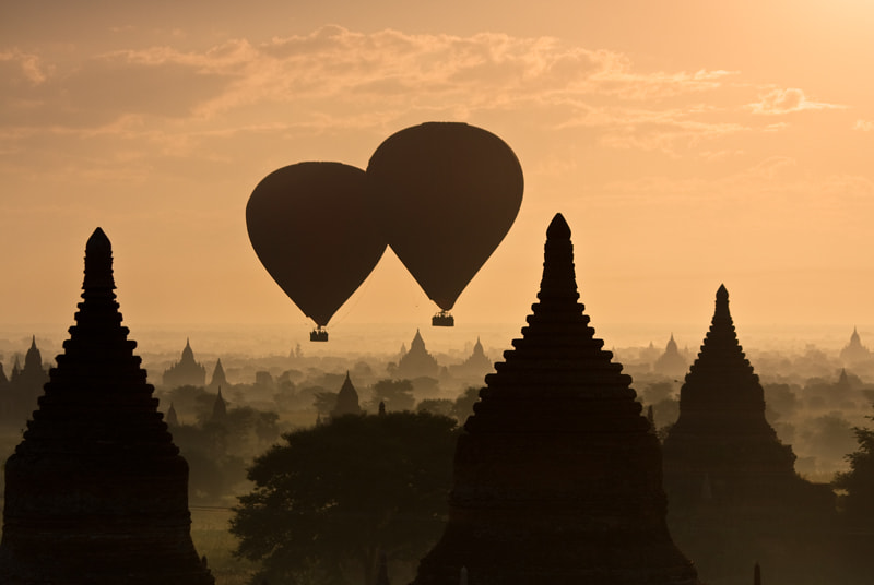 Photograph Balloon launch in Bagan by Jason KS Leung on 500px
