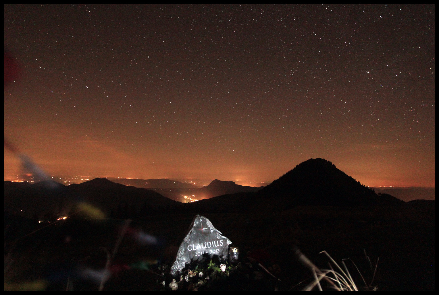 Photograph The CLAUDIUS Memorial Rock at Night by Mex Brunner on 500px