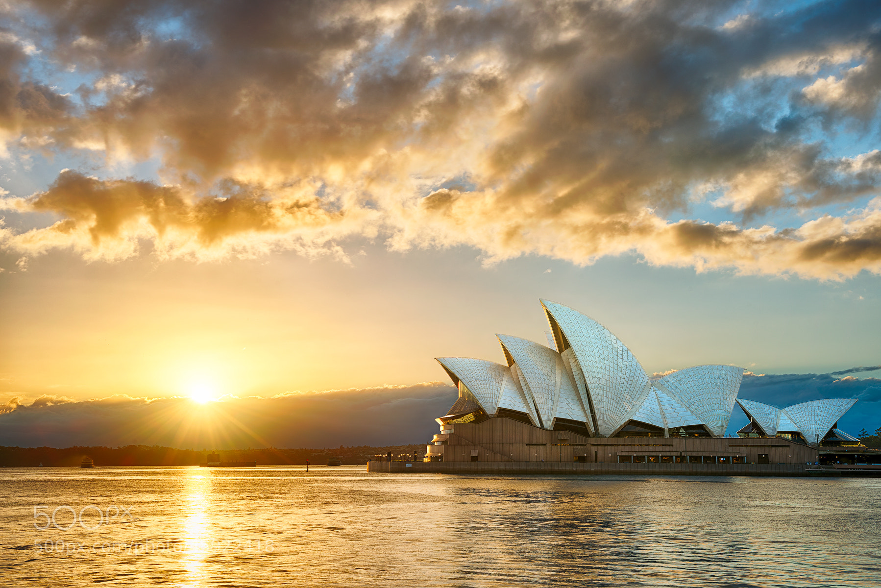 Photograph Golden Sunrise at The Opera House by Danny Xeero on 500px