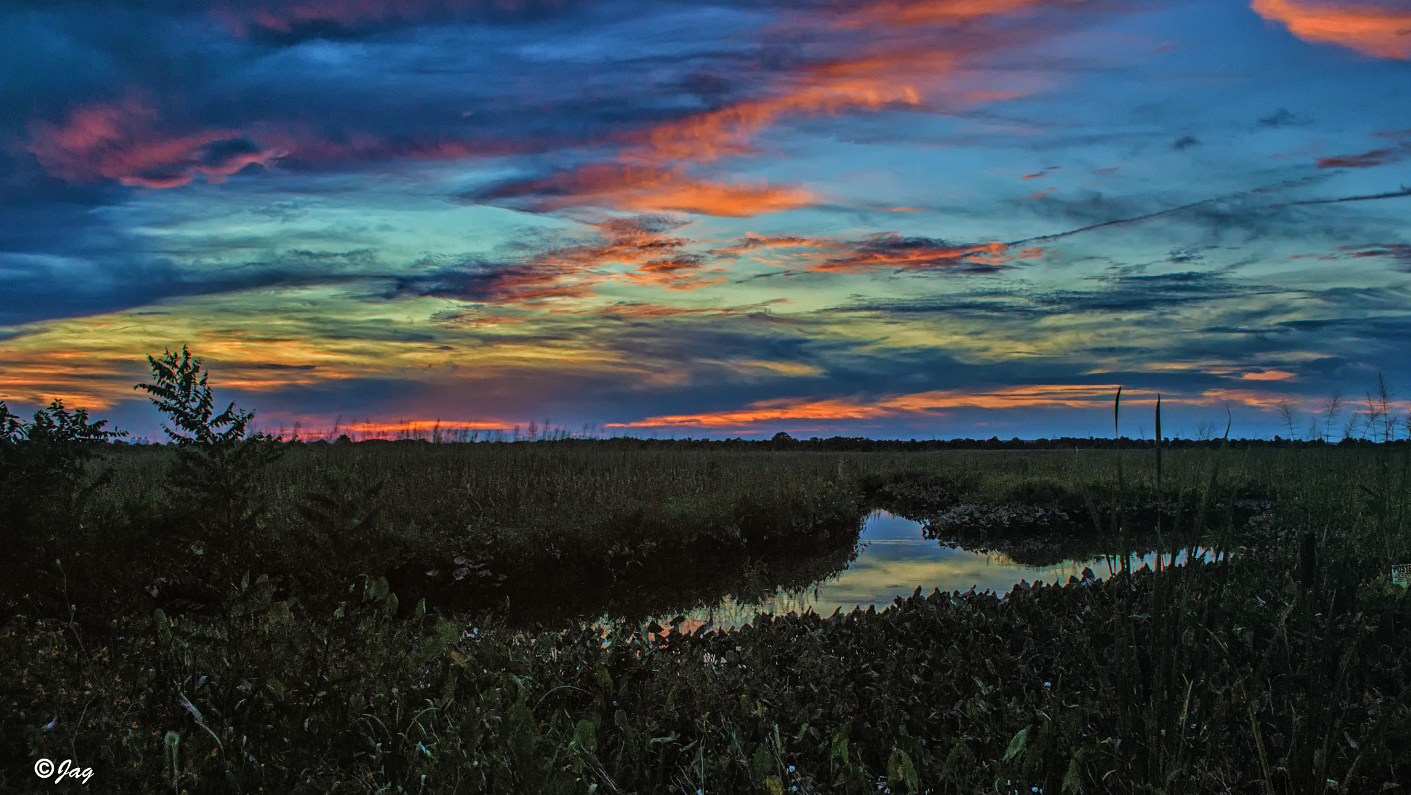 Photograph Sunset in the Swamp by James Gramm on 500px