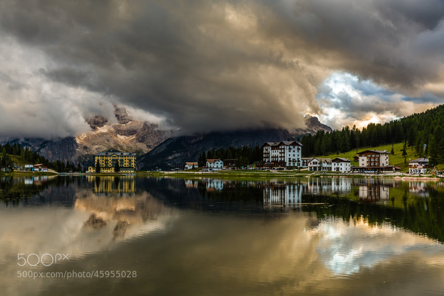 This photo was shot yesterday evening together with the Dolomites September 2013 photo workshop group at Lago di Mosurina at an amazing sunset.